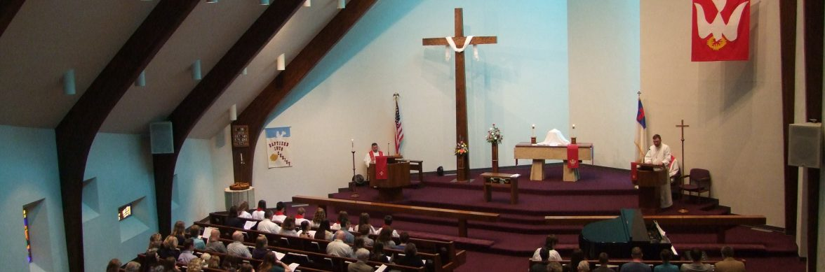 church service at st. paul lutheran church
