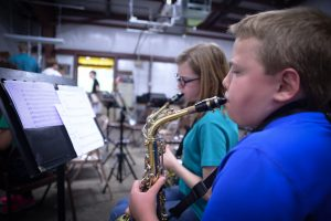 students in the band at st. paul lutheran church